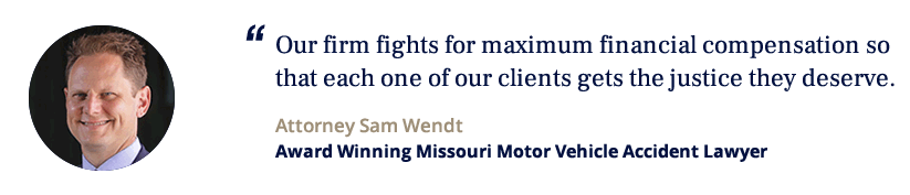 Sam Wendt, award winning Missouri motor vehicle accident lawyer
